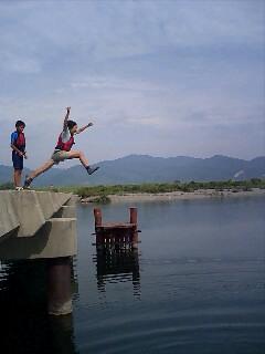 飛び込みにツリーハウスに魚突き実践編!